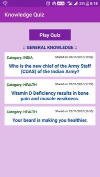 Knowledge Quiz poster