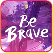 Be Brave Motivational Lock Screen icon