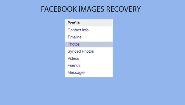Recovey facbook Photo Guide screenshot 1