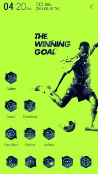 The Winning goal Atom Theme apk screenshot