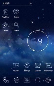Twinkle Star Atom Theme apk screenshot