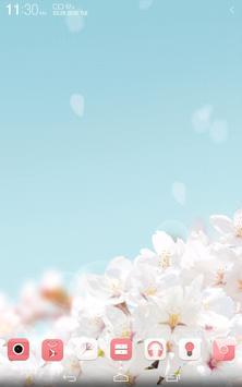 Cherry blossom Bloom Theme apk screenshot