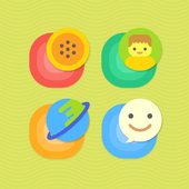 Color Pop Atom Theme icon