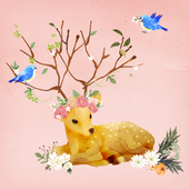Dear Flower deer Atom Theme icon