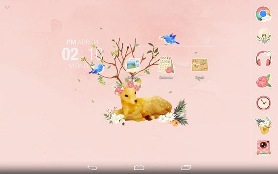 Dear Flower deer Atom Theme apk screenshot