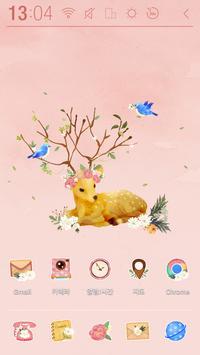 Dear Flower deer Atom Theme poster