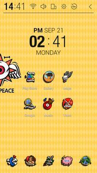 LOVE PEACE Atom Theme apk screenshot