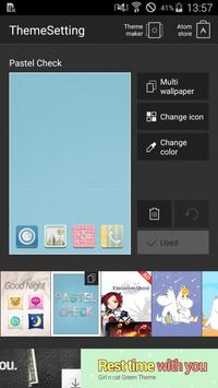 Pastel Check Atom Theme screenshot 6