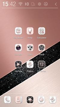 Rose-Gold Atom theme apk screenshot