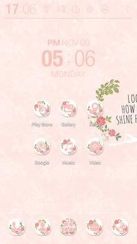 Shining Rose Atom Theme screenshot 1