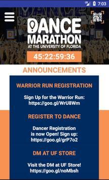 Dance Marathon at UF poster