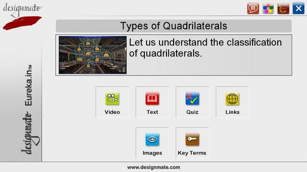 Types of Quadrilaterals poster