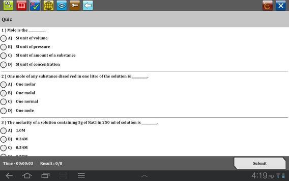 Molarity of a solution apk screenshot