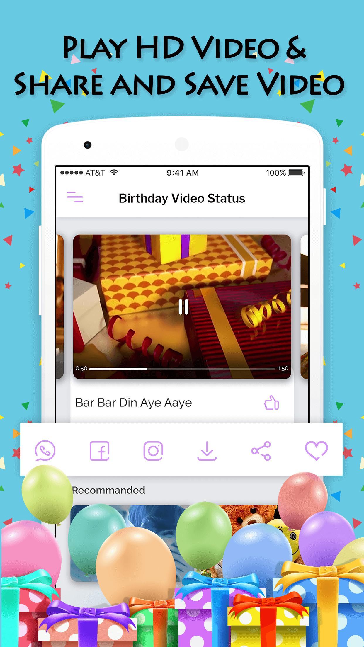 Birthday Wishes Video Songs Screenshot 2