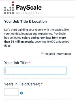 -payscale- Salary Comparison, Salary Survey, Wages apk screenshot