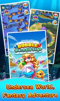 Bubble Mermaid Saga - Classic Bubble Shooter  Game poster