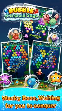 Bubble Mermaid Saga - Classic Bubble Shooter  Game screenshot 13