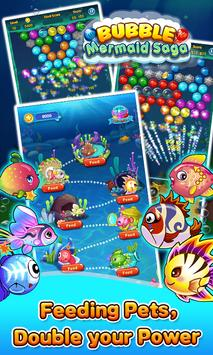 Bubble Mermaid Saga - Classic Bubble Shooter  Game screenshot 1
