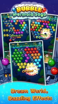 Bubble Mermaid Saga - Classic Bubble Shooter  Game screenshot 7
