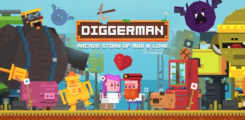 Diggerman - Arcade Gold Mining Simulator APK