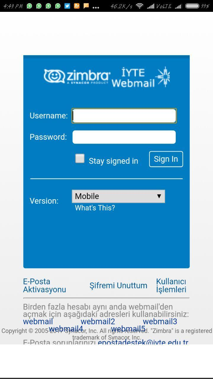 Zimbra Webmail - iyte for Android - APK Download