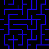 Simple maze icon