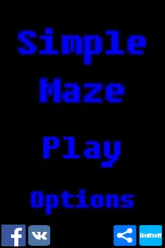 Simple maze poster