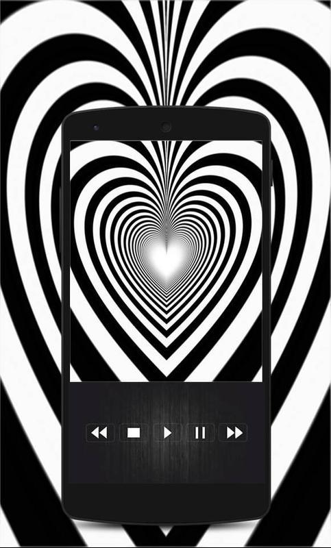 Corazon black and white 3d live wallpaper poster