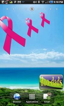 Breast Cancer Ribbon doo-dad poster