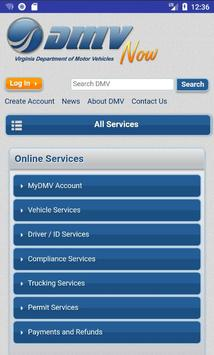 Virginia DMV screenshot 1