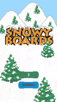 Snowy Boards Snowboarding poster