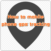 How to mobile gps tracking icon