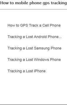 How to mobile gps tracking apk screenshot