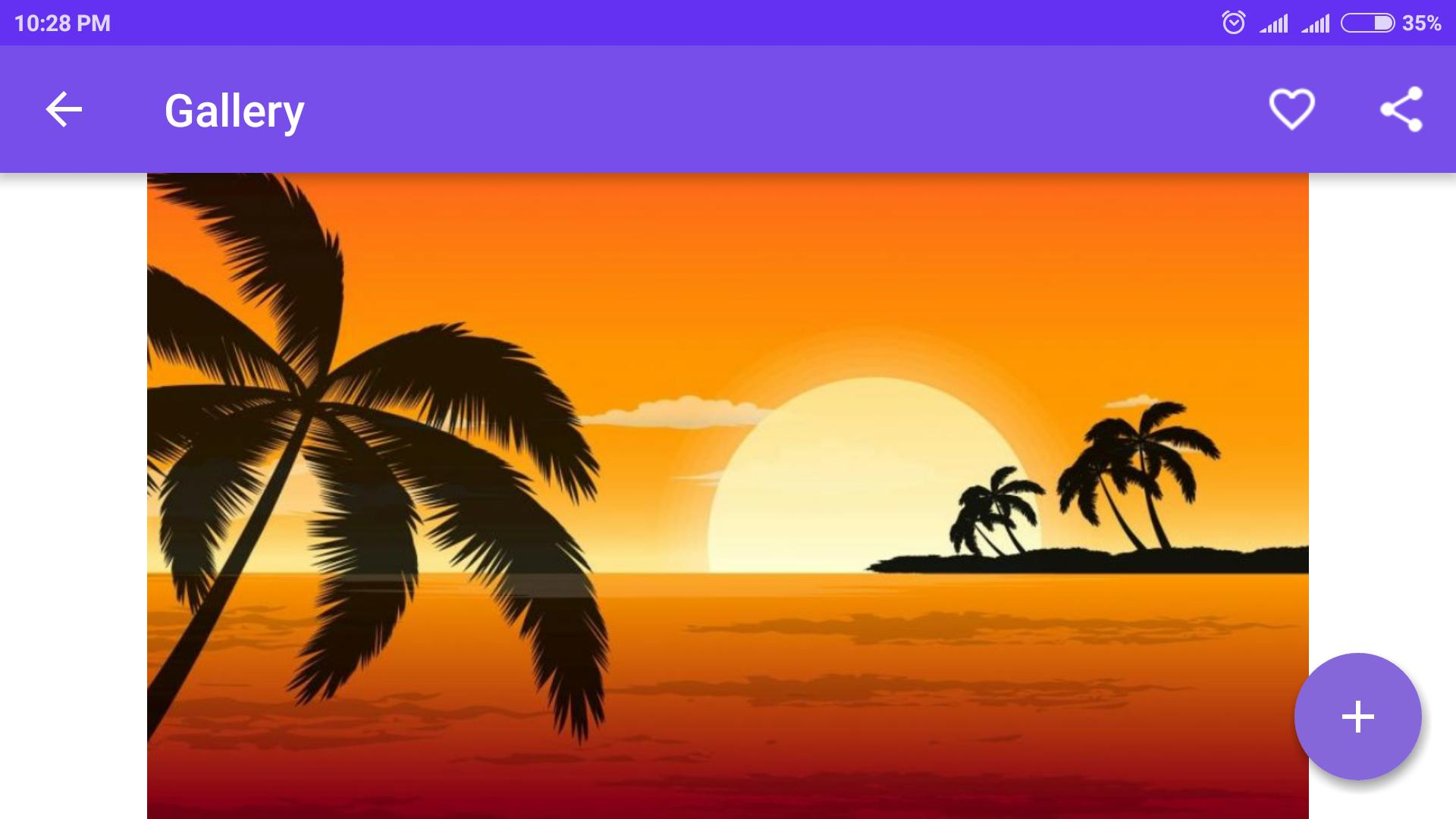 Drawing Scenery of Sunset poster