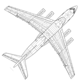 Construction of aircraft icon