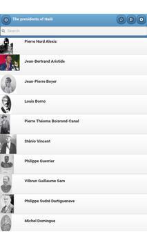 The presidents of Haiti apk screenshot
