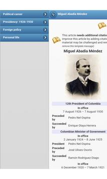 Presidents of Colombia apk screenshot