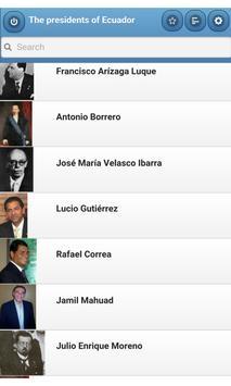 The presidents of Ecuador poster