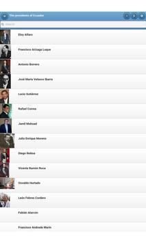 The presidents of Ecuador apk screenshot