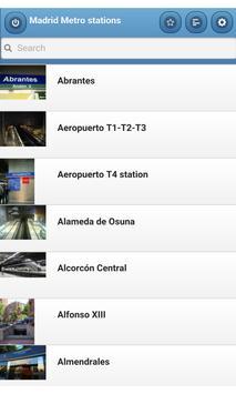 Madrid Metro stations poster