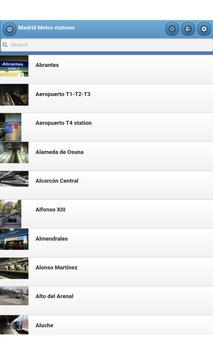 Madrid Metro stations apk screenshot