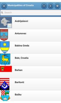 Municipalities of Croatia poster