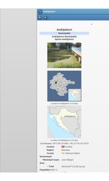 Municipalities of Croatia apk screenshot