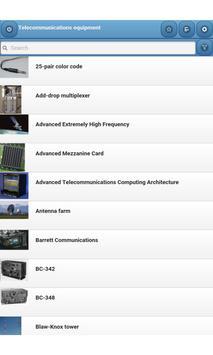 Telecommunications equipment screenshot 8