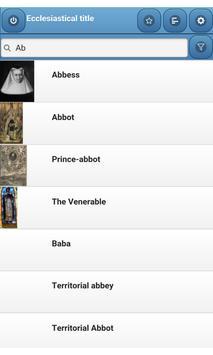 Ecclesiastical title apk screenshot