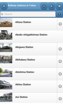Railway stations in Tokyo poster