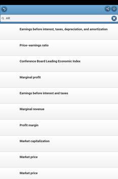 Economic indicators apk screenshot
