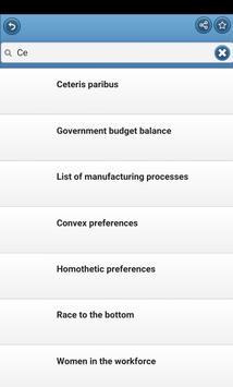 Economic terms apk screenshot