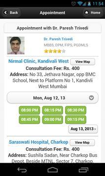 Dr Paresh Trivedi Appointments screenshot 1