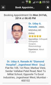 Dr Uday A. Ranade Appointments apk screenshot